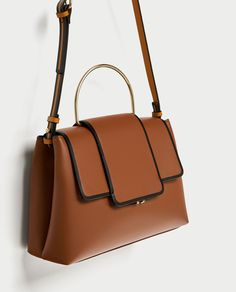 CITY BAG WITH METAL HANDLE - View all-BAGS-WOMAN e74a27b0e54