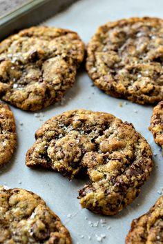 Sea Salt Toffee Chocolate Chip Cookies