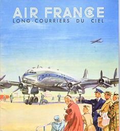 Ideas for travel ilustration plane air france Air France, Poster Ads, Advertising Poster, Retro Airline, Vintage Airline, Vintage Advertisements, Vintage Ads, Travel Ads, Air Travel