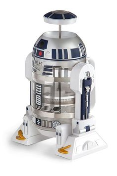Let R2 help you navigate your mornings more successfully with this Star Wars R2-D2 Coffee Press. Put your grounds and boiling water in his glass body, brew for a few minutes, plunge, and he'll serve up 32 oz. of piping hot coffee.