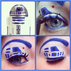 "Heehee this is too cute! @goth_glamour used #Sugarpill Velocity and Tako to create this fun ""May the Fourth be with you"" look. #maythe4thbewithyou #makeupart"