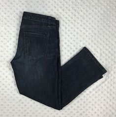 Tommy Hilfiger women 4 blue dark wash cropped capri stretch denim jeans pants G5 #TommyHilfiger #CapriCropped