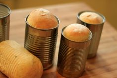 Homemade Bread in Cans – The Yummy Truth Bread In A Can, Cake In A Can, Mini Bread Loaves, Passion Fruit Curd, Fresh Bread, Bread Recipes, Tin Can Bread Recipe, Bread Rolls, Vegetarian Recipes