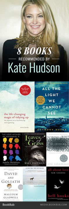 8 books recommended by Kate Hudson, including All the Light We Cannot See by Anthony Doerr.