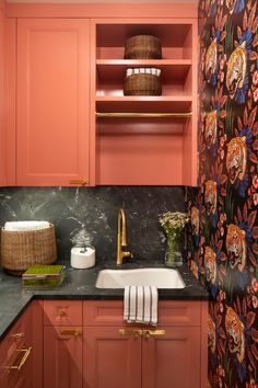 European Style Homes, European House, Countertop Backsplash, Countertops, Viking Appliances, Wicker Dining Chairs, Room Paint Colors, Kitchen Wallpaper, House Built