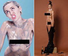 Miley Cyrus vs. Kim Kardashian: whose full-frontal #Paper Magazine pics are your fave?