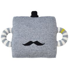 Blabla Pillow Hold Me Tight Mustache /