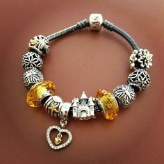 50% OFF!!! $279 Pandora Charm Bracelet Yellow. Hot Sale!!! SKU: CB01900 - PANDORA Bracelet Ideas