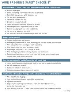 The Horse | Trailer Safety Checklist | TheHorse.com