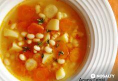 Gyöngybab leves Hungarian Recipes, Viera, Chana Masala, Soups And Stews, Cheeseburger Chowder, Vegetables, Ethnic Recipes, Food, Vegetable Recipes