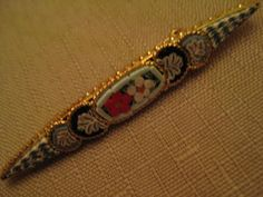 Un Worn Vintage Italy Micro Mosaic Brooch by vtseredipityboutique