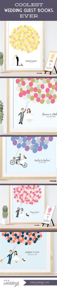 Coolest wedding guest books. Ever. #weddingidea