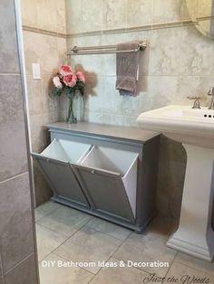 ideas for guest bathroom closet vanities Small Bathroom Storage, Bathroom Closet, Diy Bathroom Decor, Master Closet, Bathroom Ideas, Bathroom Organization, Bathroom Hacks, Bathroom Inspiration, Remodel Bathroom