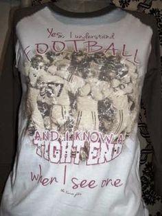 Tight End Football Fan Raglan-football, fan, female, smack, tight end, tight-end, tee, t, shirt, t-shirt, retro, vintage, funky, junk, junky, gypsy, the tiara fits, butt