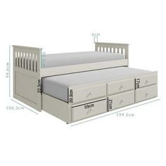 Buy Oxford Captains Guest Bed With Storage in Pure White from - the UK's leading online furniture and bed store Small Room Design Bedroom, Bedroom Furniture Design, Kids Room Design, Diy Bedroom Decor, Cute Bedroom Ideas, Cute Room Decor, Bed Designs With Storage, Loft Bed Plans, Woodworking Furniture Plans