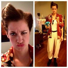 My Ace Ventura costume. IT'S NOT SNOWFLAKE.