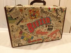 decoupage suitcases | Vintage Decoupage Beezer Suitcase by WandleTree on Etsy