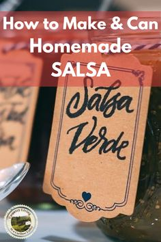 Recipe for making your own fresh Salsa! Make a small batch of Salsa for fresh eating or make the full recipe and then home can Salsa! Step by step canning instructions for water bath canning. #salsarecipe #salsa #canningsalsa #canning #preserving #waterbathcanning