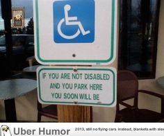 This handicapped parking sign comes with a fair warning. - Real Funny has the best funny pictures and videos in the Universe! Doug Funnie, Funny Images, Funny Pictures, Random Pictures, Work Fails, Nostalgia, Parking Signs, Lol, Funny Pins