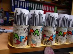 Pots à crayons pour les papas - Tatie Boubou - Best Pins Live Work Gifts, Gifts For Mum, Mother Gifts, Cadeau Parents, Orange Drinks, Pot A Crayon, Crafts For Kids, Arts And Crafts, Fathers Day Crafts