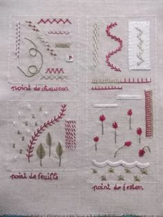♒ Enchanting Embroidery ♒ embroidered squares | Anja´s Wunschpunsch