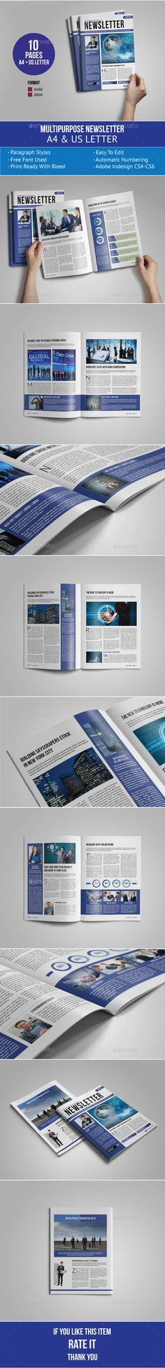 Modern Newsletter Template v03 Newsletter templates, Print - company newsletter template free
