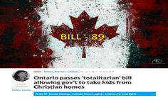Shocking New Canadian Law! - Christian Families At Risk Of Having Children Taken