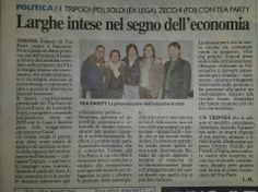 """""""Larghe intese nel segno dell'economia"""" - (La Nazione - 22 dicembre 2013)"""