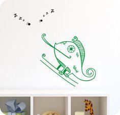 Un simpático camaleón que te ayudará a acabar con los bichos de tu habitación.