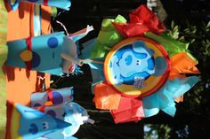 Blues Clues inspired paper goodie bag and center piece