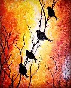 15 Ways Painting S Can Improve Your Business Acrylic Painting Trees, Time Painting, Oil Painting On Canvas, Original Wallpaper, Original Artwork, Bird Silhouette Art, Hand Painted Dress, Underwater Painting, Modern Art Paintings