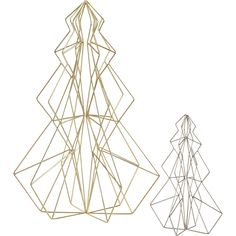 wired for the holidays.  Open wire sculptures branch out with graphic interest from every angle, formed with precision in gleaming gold- or silver-plated iron.  Wrap in lights and illuminate a mini forest on the table or mantel. Gold- or silver-plated ironWipe cleanMade in China.