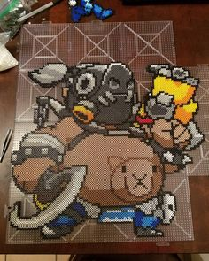 Overwatch perler beads by lsdmgz95
