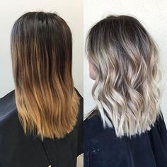 Du blond doré au blond cendré; la différence est bien visible
