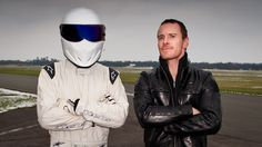 My two favorite people, Stig and Michael Fassbender! #TopGear