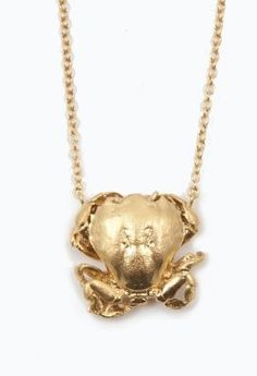 Kate Gilliland Goldene Krebshalskette Wonsuponatime 165 - World of Animals Jewellery Quarter, Body Adornment, Christmas Gift Guide, Head And Neck, Gifts For Her, Gold Necklace, Pendants, Jewels, Crabs