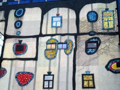 Window decor from the Hundertwasser Fernwärme Wien