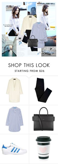 """Chic in the city"" by rainie-minnie ❤ liked on Polyvore featuring Donna Karan, J Brand, M.i.h Jeans, Givenchy and adidas"