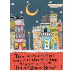 """Curly Girl Designs """"Believe, Believe, Believe"""" boxed holiday cards"""