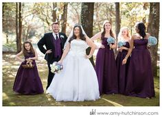 This jewel-tone shade of purple looks good on everyone and adds an air of elegance to your big day. And don't you just love the Man of Honor?   Savannah Woods Wedding // Memphis Wedding Photography by Amy Hutchinson Photography // Venue: Savannah Woods