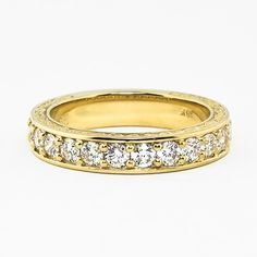 18K Yellow Gold Luxe Antique Scroll Ring