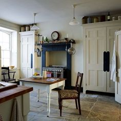 See all our kitchen design ideas including this London kitchen belonging to an architectural historian that's full of unusual charm.