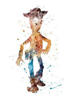 28 New Ideas for wallpaper disney toy story art prints Disney Pixar, Arte Disney, Disney Art, Watercolor Disney, Watercolor Print, Toy Story, Beauty And The Beast Wallpaper, Disney Poster, Pixar Poster