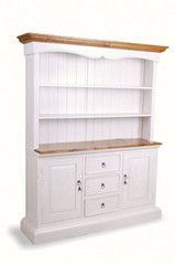 White Kitchen Dresser shabby chic corner dresser : lovely large solid grey corner