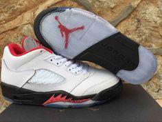 detailed look 960df 3d98f Mens Nike Air Jordan 5 Low Basketball Shoes Sliver White on  www.jordan12low.com