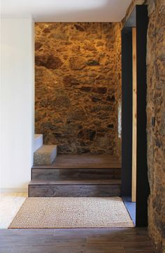 Image 30 of 40 from gallery of Eira House / AR Studio Architects. Photograph by Soraia Oliveira Entryway Runner, House Design, House, Transitional House, Ceiling Detail, Studio, Old Houses, Stone Houses, Stairs And Doors