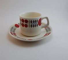 Egersund of Norway Cup & Saucer Norway Culture, Norway Food, Vintage Crockery, My Cup Of Tea, Chocolate Pots, Scandinavian Design, Ceramic Pottery, Cup And Saucer, Kitchenware