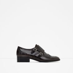 Image 1 of FLAT SHOES WITH BROGUE DETAIL from Zara