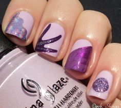 Oooh, Shinies!: How To: Ziplock bag nail applications/stickers