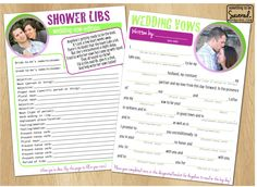 Wedding Shower Mad Libs | Something to be Savored